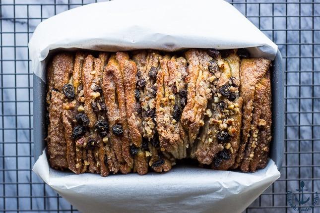Cinnamon Raisin Pull Apart Bread