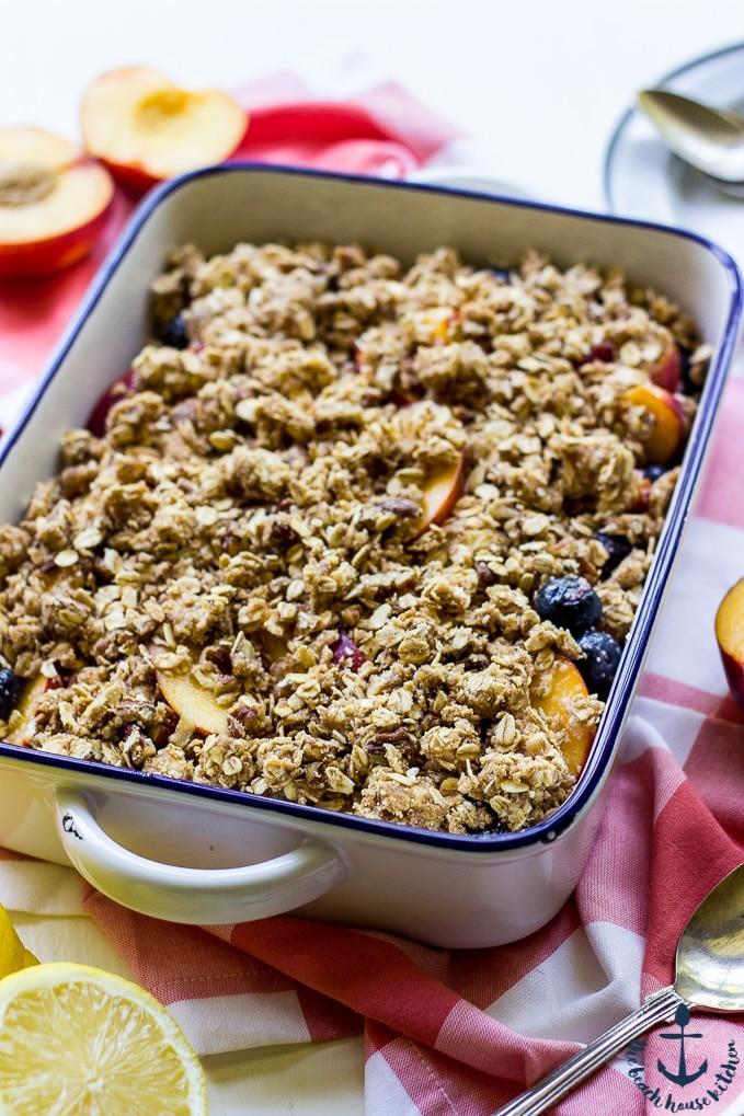 Gluten Free Blueberry Nectarine Crisp