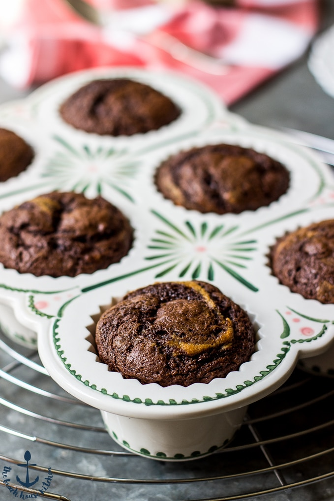 Chocolate Espresso Banana Muffins