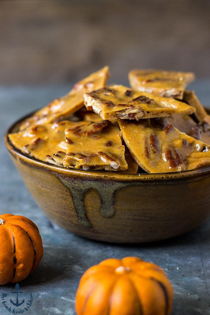 Pumpkin Spice Pecan Brittle