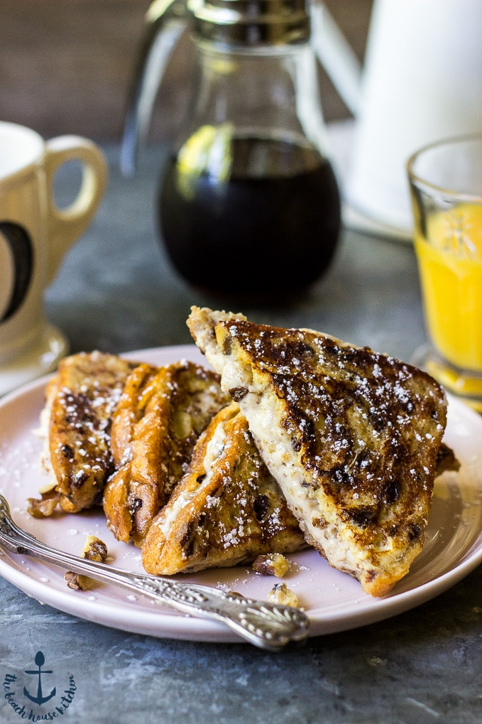 Walnut Cinnamon Cream Cheese Stuffed French Toast