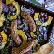 Sausage Acorn Squash Sheet Pan Dinner