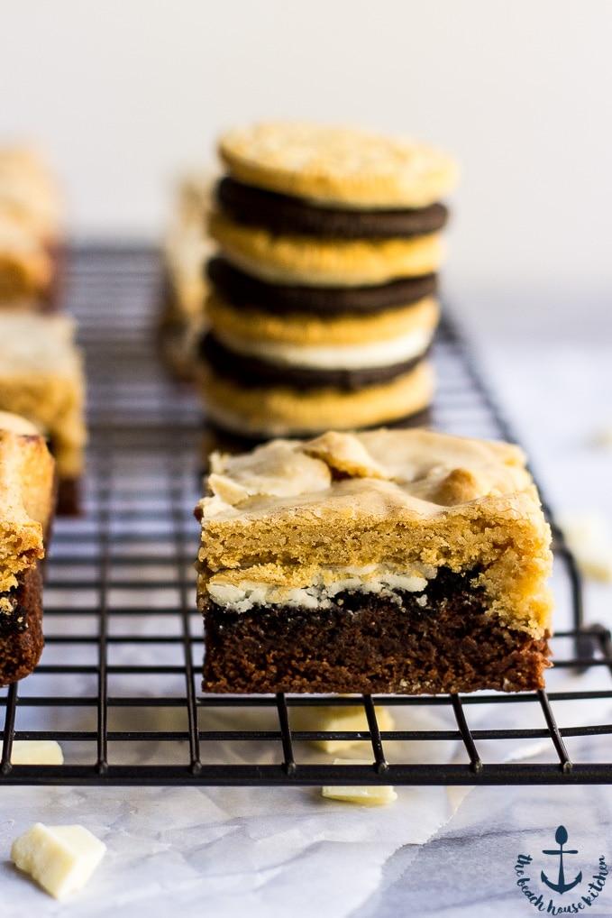 Triple Decker Delight Brownie Bars
