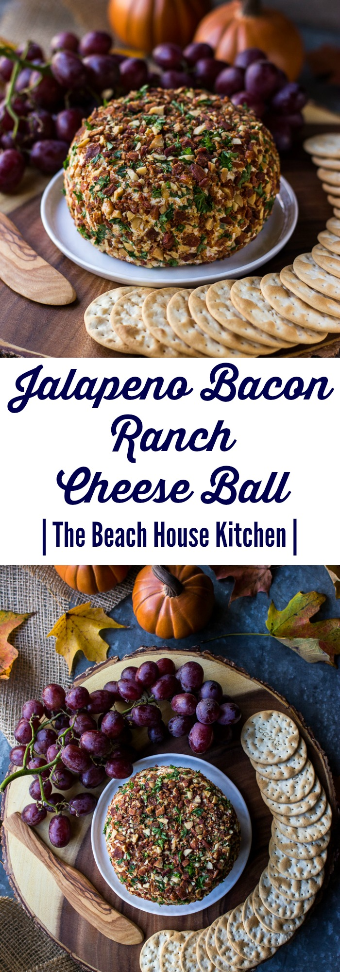 Jalapeno Bacon Ranch Cheese Ball