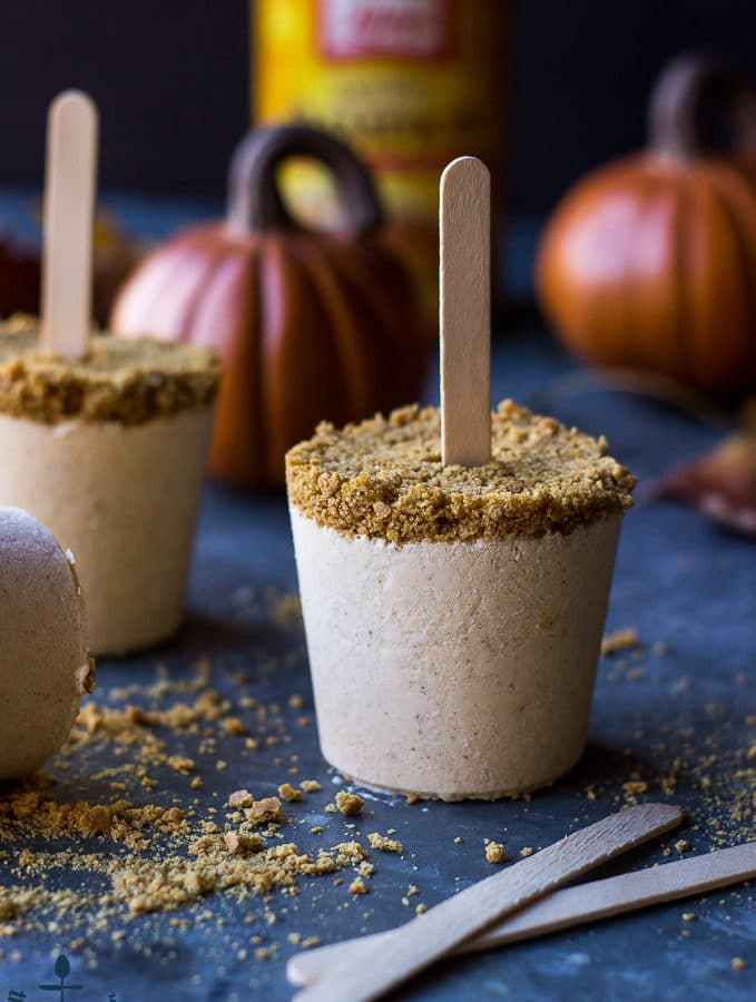 Pumpkin Cheesecake Popsicles