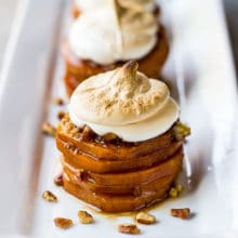 Sweet Potato Stacks with Toasted Marshmallow Crème