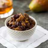 Pear Bourbon Cranberry Chutney