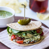 Cobb Salad Flatbread Wrap with Watercress Pesto