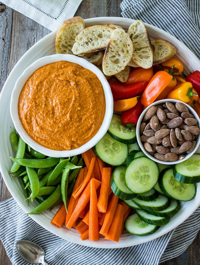Crudités with Romesco Sauce