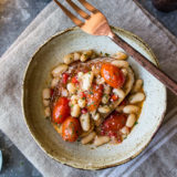 White Bean and Tomato Ragout Over Ciabatta
