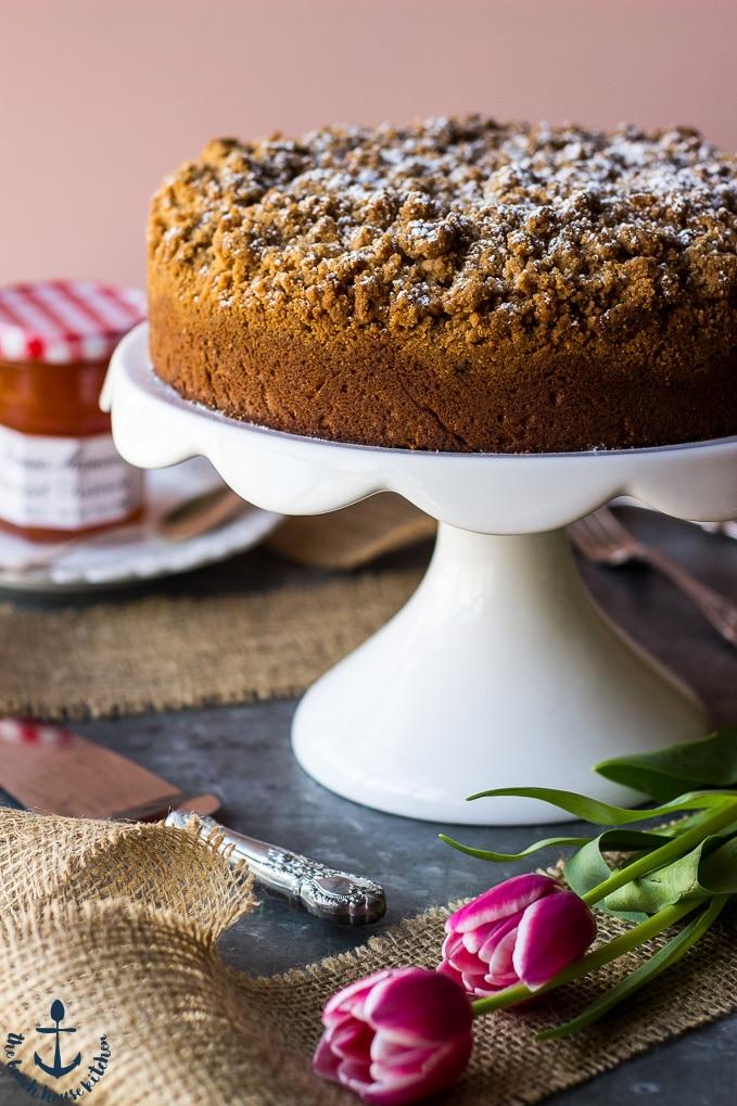 Apricot Preserves Crumb Cake