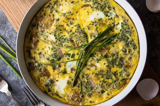 Sausage, Peppers and Onions Frittata