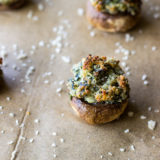 Spinach and Boursin Stuffed Mushrooms