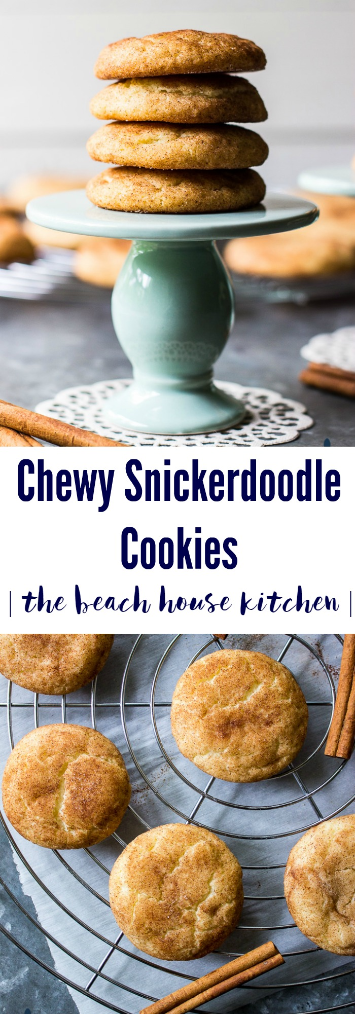 Chewy Snickerdoodle Cookies