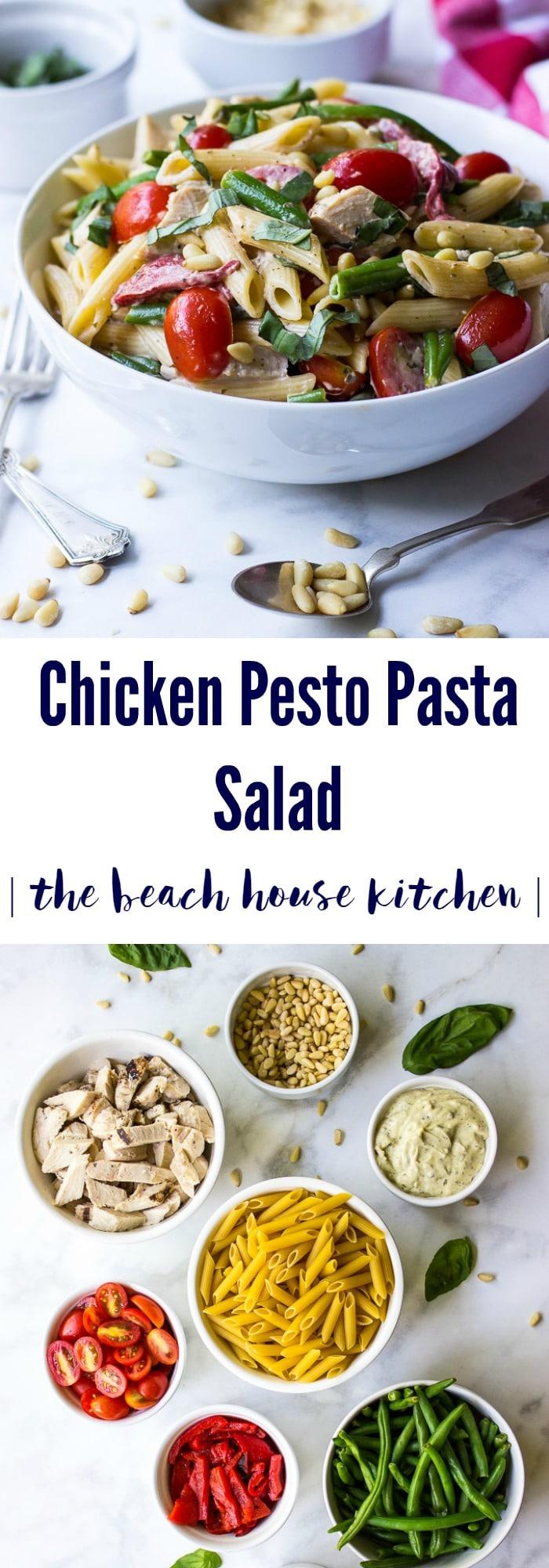 Chicken Pesto Pasta Salad