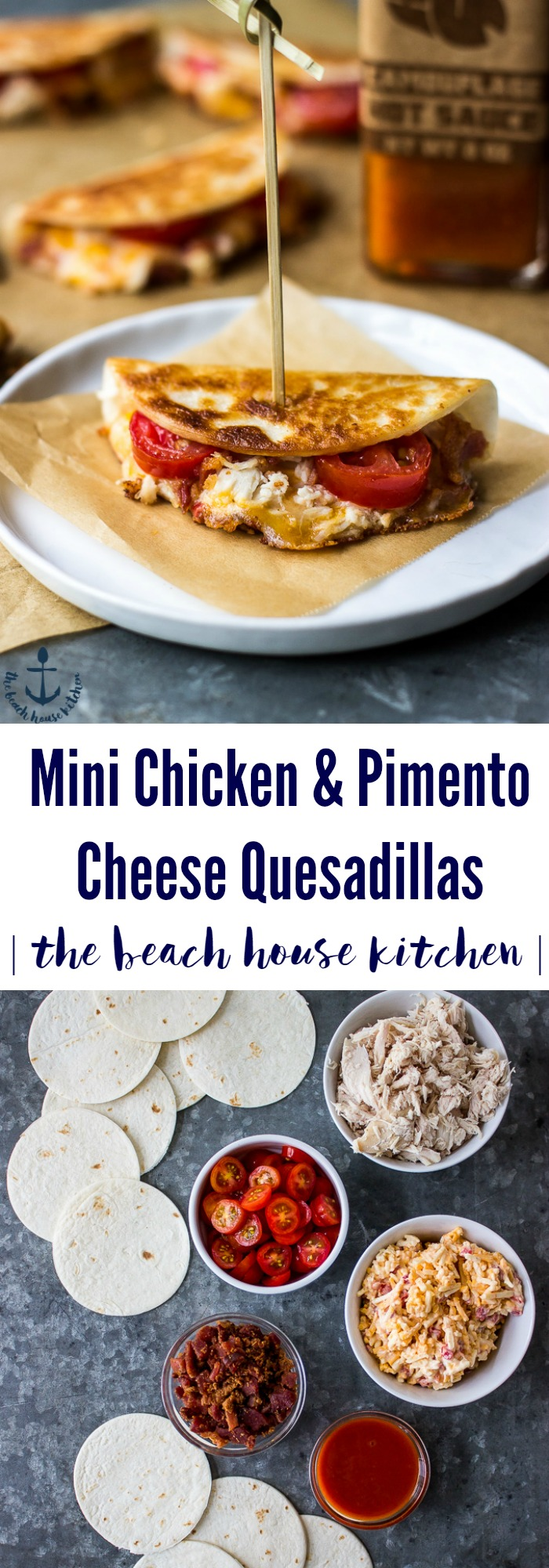 Mini Chicken & Pimento Cheese Quesadillas