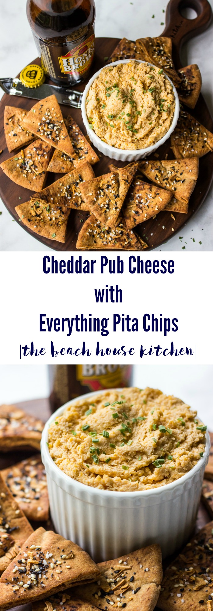 Cheddar Pub Cheese with Everything Pita Chips