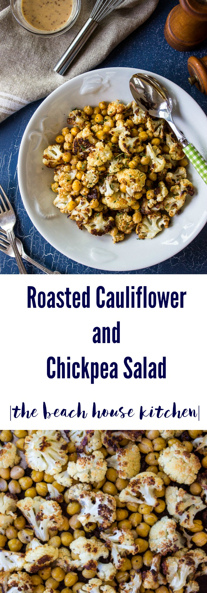 Roasted Cauliflower and Chickpea Salad