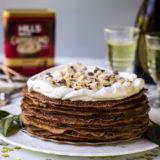 Double Chocolate Hazelnut Crepe Cake