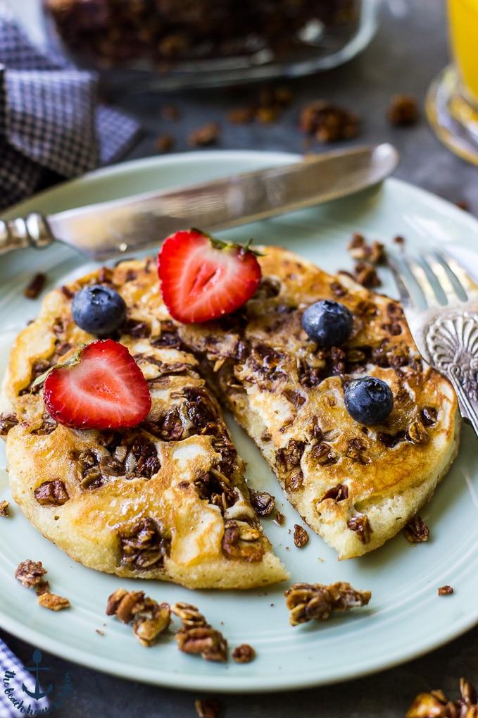 Easy Granola Pancakes