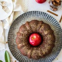 Apple Cider Doughnut Bundt Cake with Pecan Brown Sugar Ripple
