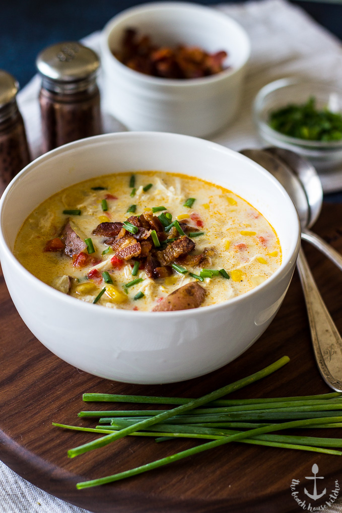 Creamy Chicken Corn Chowder with Bacon