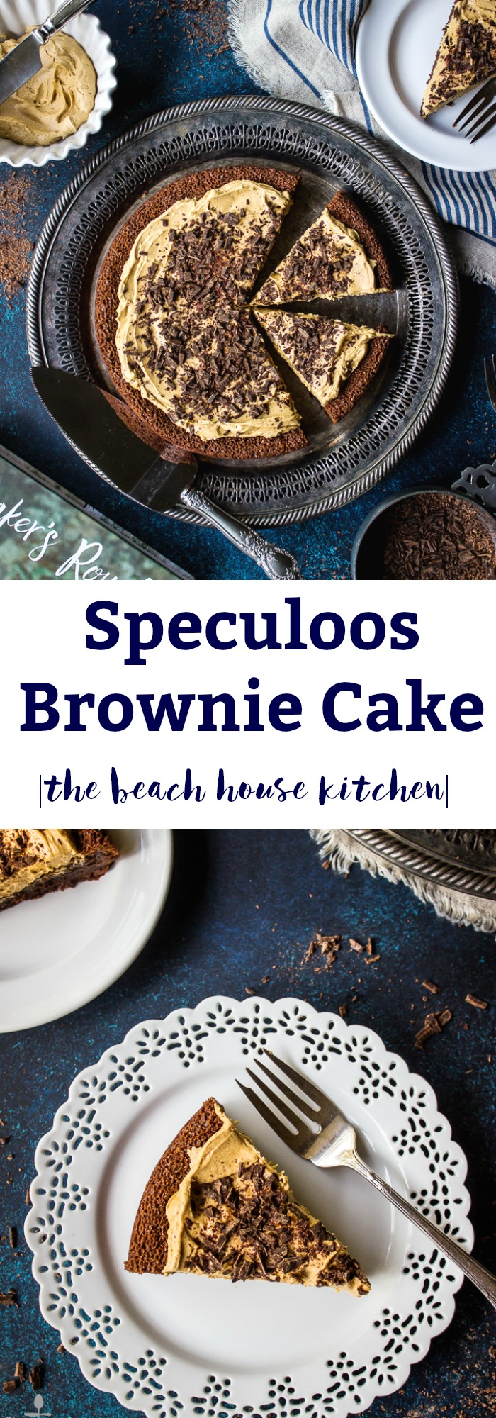 Speculoos Brownie Cake