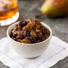 Pear Cranberry Bourbon Chutney