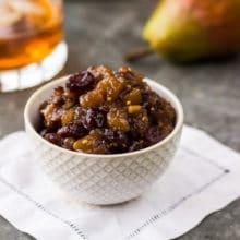 Pear Cranberry Bourbon Chutney