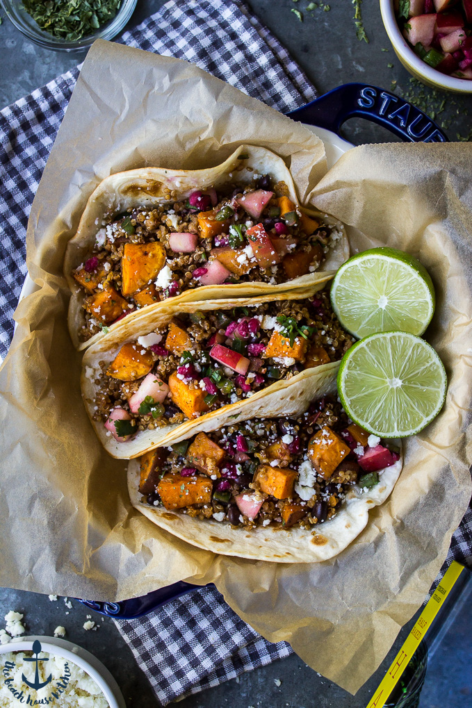 Chipotle Sweet Potato and Quinoa Tacos