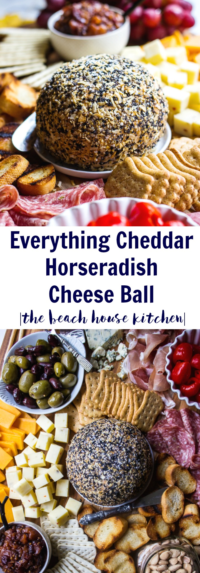 Everything Cheddar Horseradish Cheese Ball