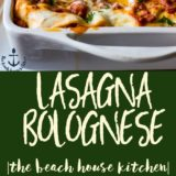 Lasagna Bolognese long Pinterest pin