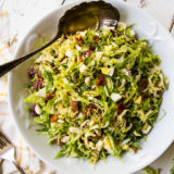 Shaved Brussels Sprouts Salad with Warm Bacon Dressing