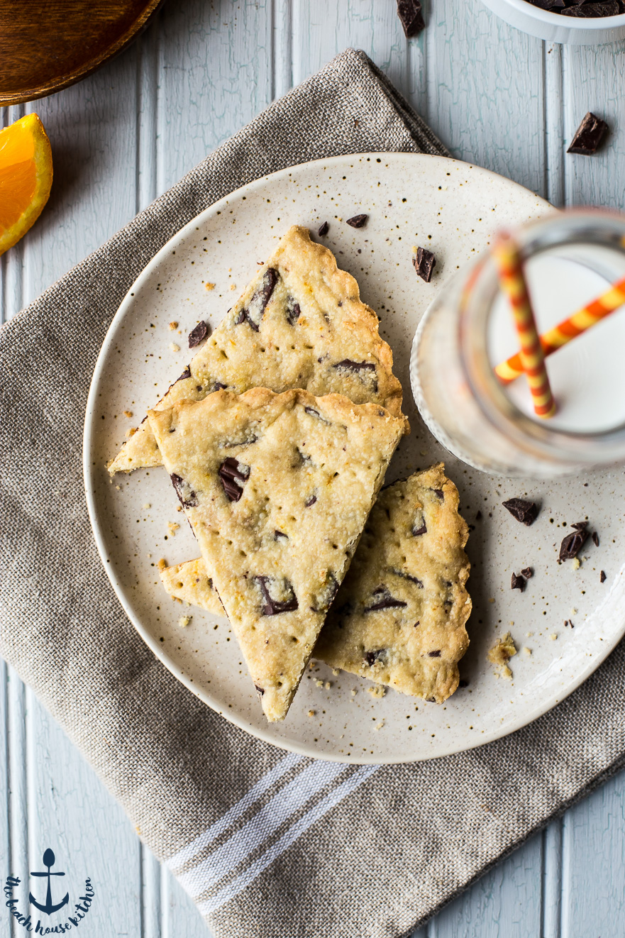 Chocolate Chunk Orange Shortbread