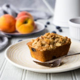Peach Blueberry Cornmeal Muffins