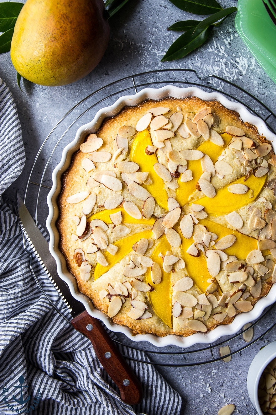 Tropical Mango Almond Cake