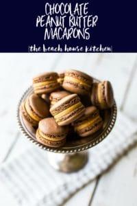 Chocolate Peanut Butter Macarons