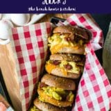 Bacon, Egg and Cheese Bagel Breakfast Sliders