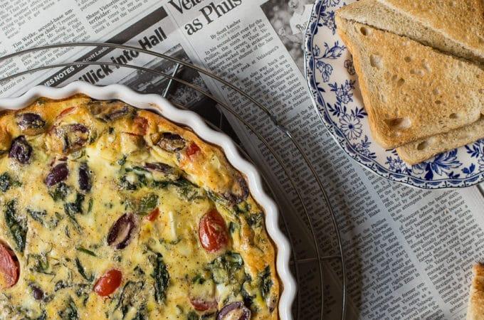 Greek Omelet Egg Bake