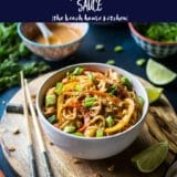 Chicken Noodle Stir-Fry with Spicy Thai Peanut Sauce