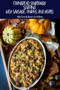Cornbread and Sourdough Stuffing with Italian Sausage and Fresh Herbs