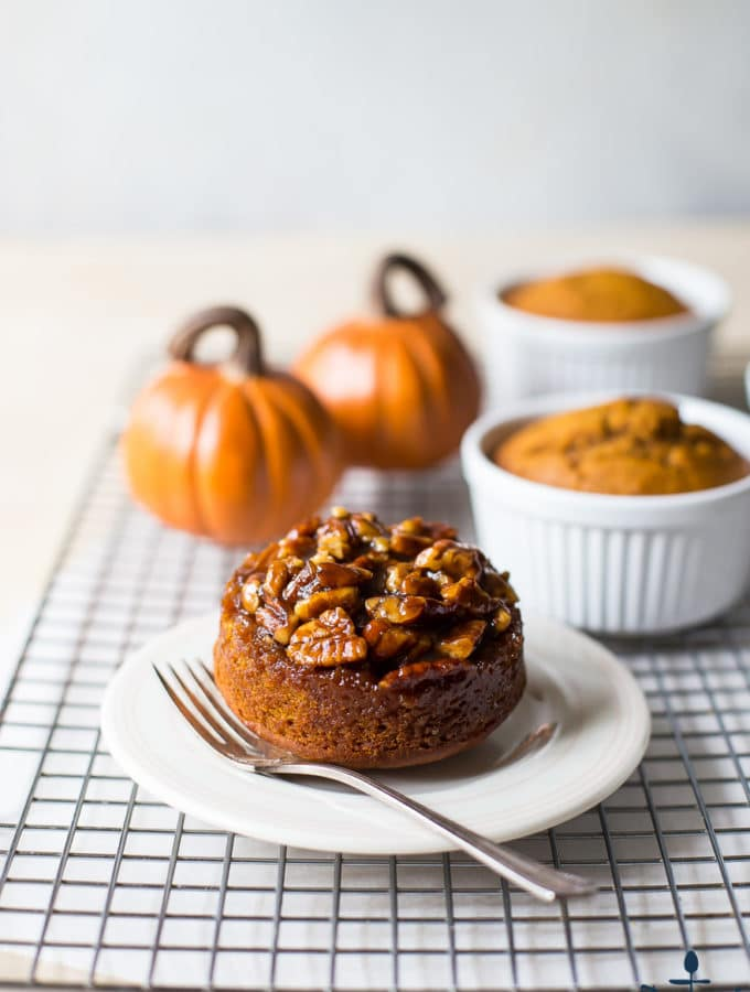 Mini Pumpkin Praline Upside Down Cakes