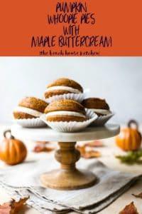 Pumpkin Whoopie Pies with Maple Buttercream