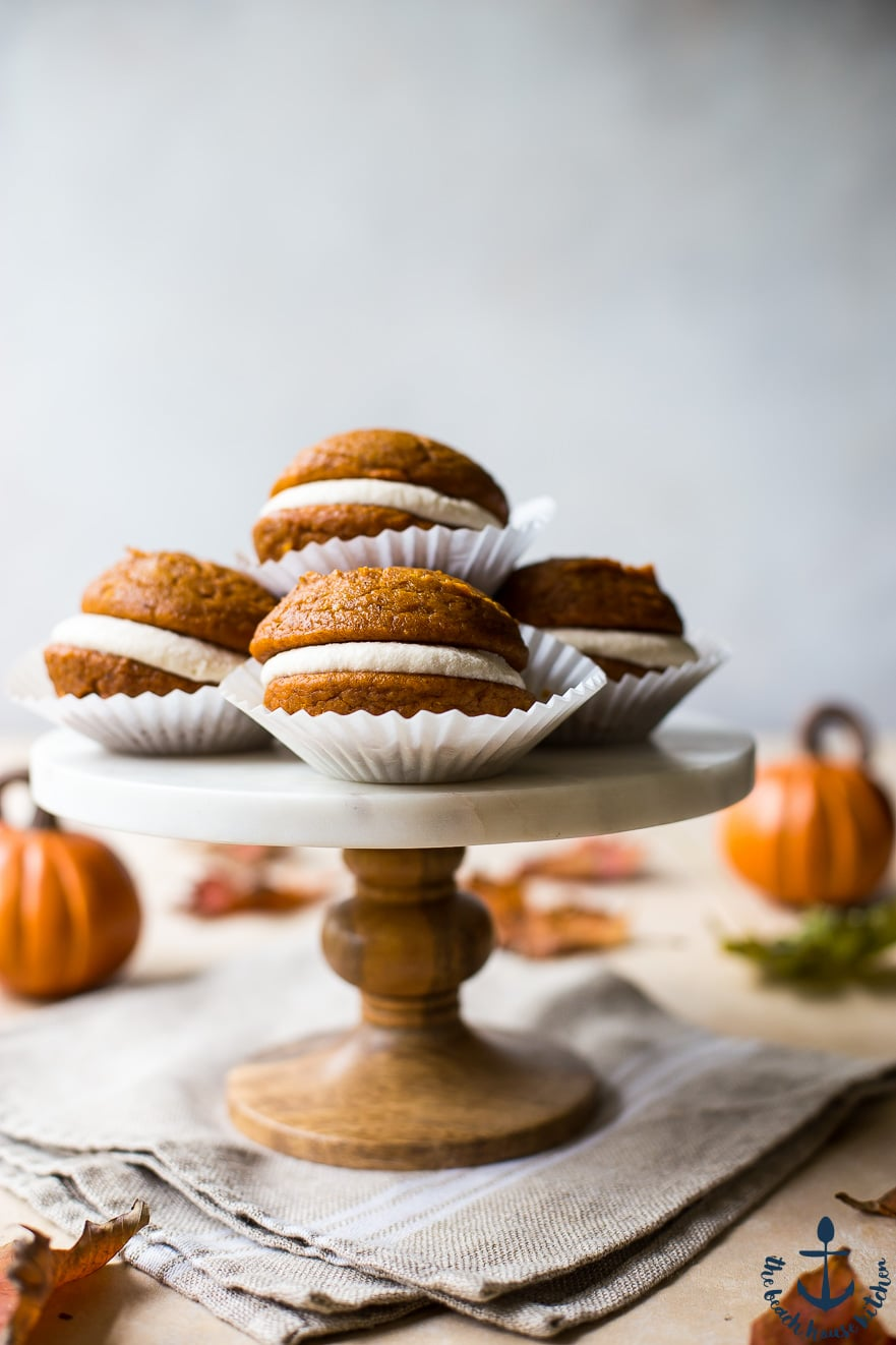 Pumpkin Whoopie Pies with Maple Buttercream