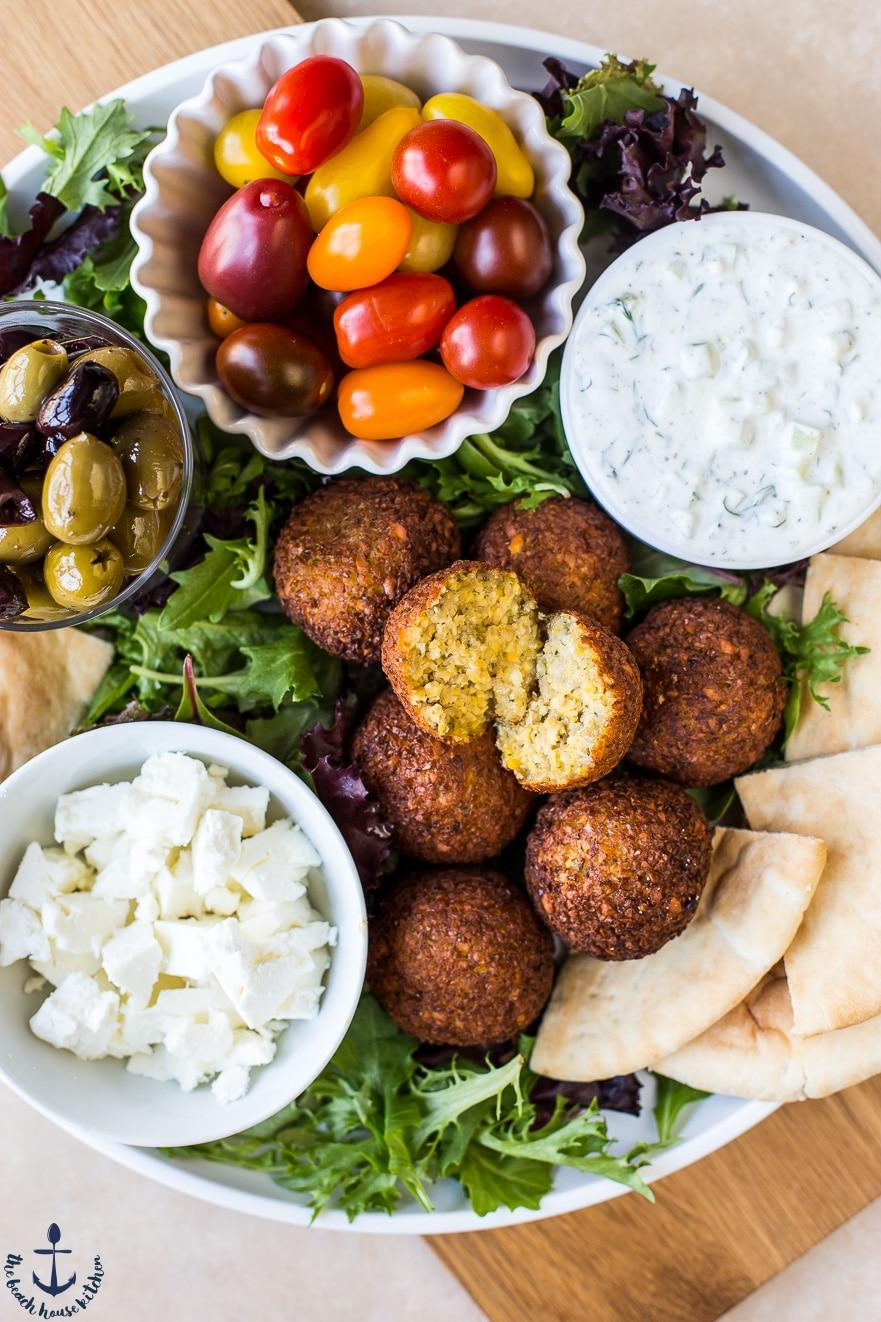 Falafel Platter with Tzatziki Sauce