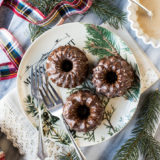 Mini Gingerbread Bundt Cakes with Maple Glaze