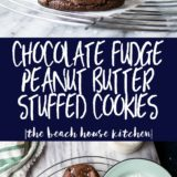 Chocolate Fudge Peanut Butter Stuffed Cookies
