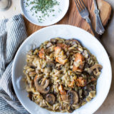 Chicken Marsala with Orzo