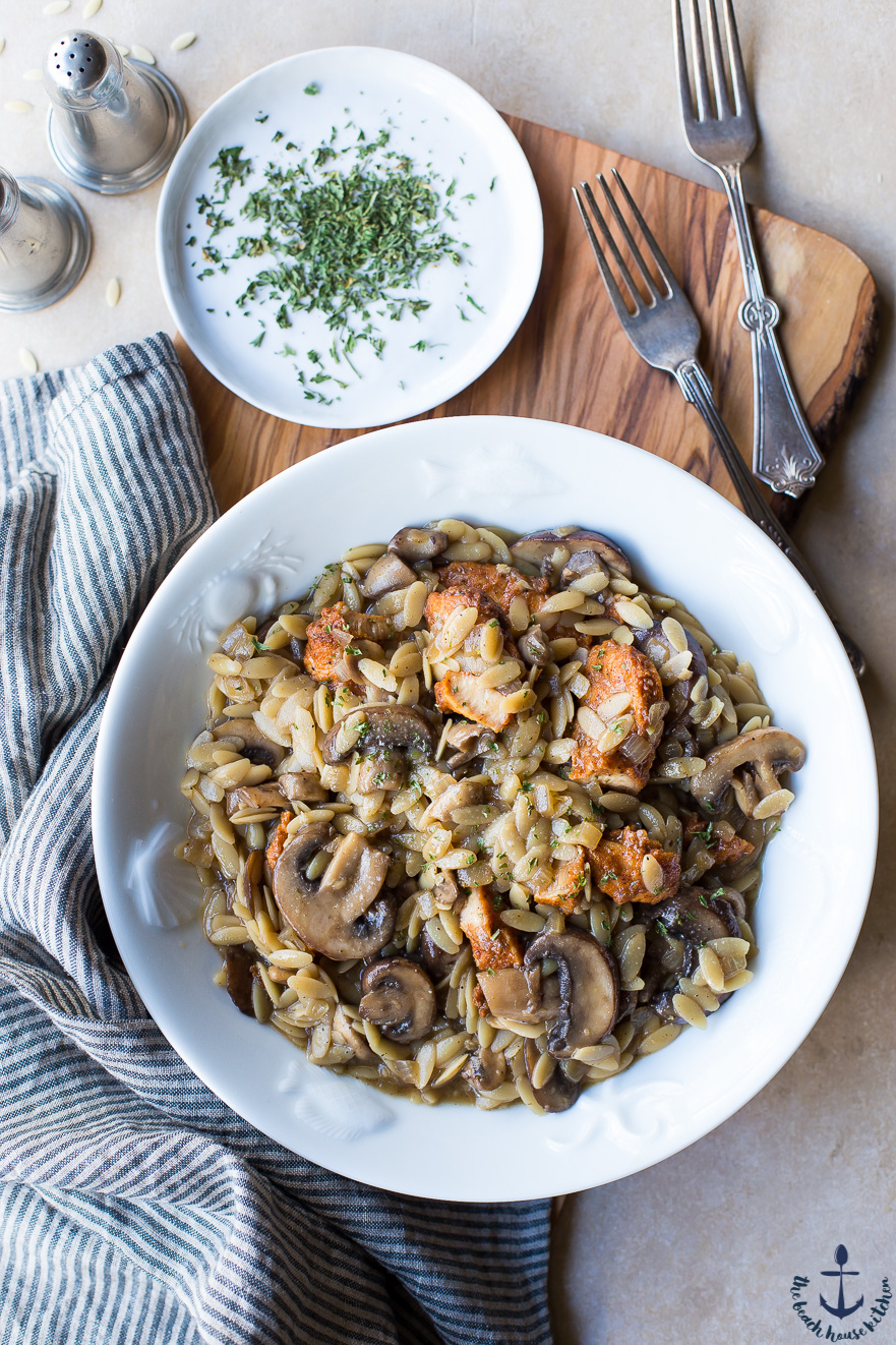 Chicken with Orzo Marsala