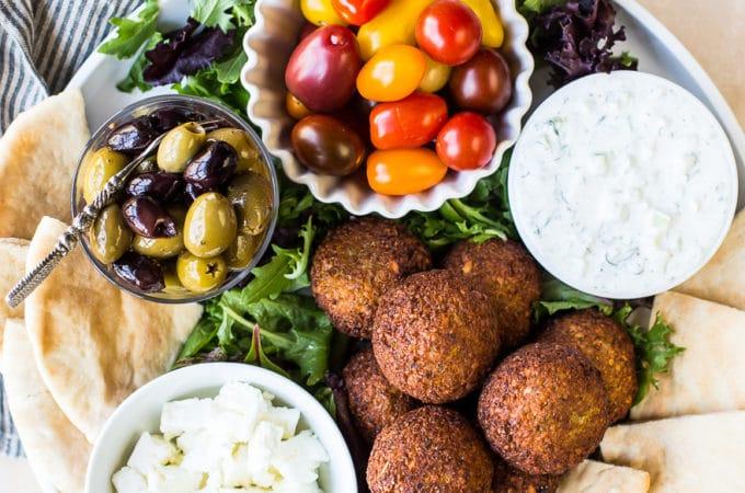 Falalfel Platter with Tzatziki Sauce